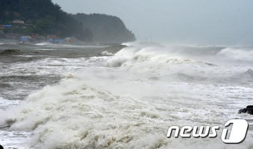 [사진]태풍 봉퐁이 만든 파도