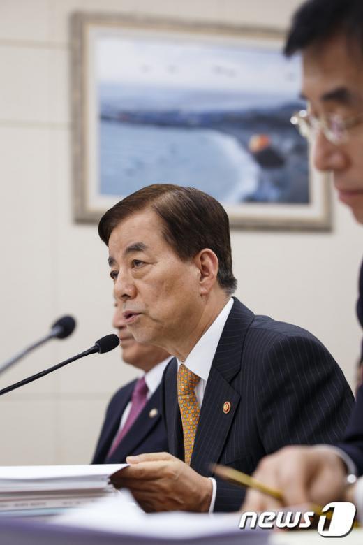 [사진]한민구 '2015년 국방예산은...'