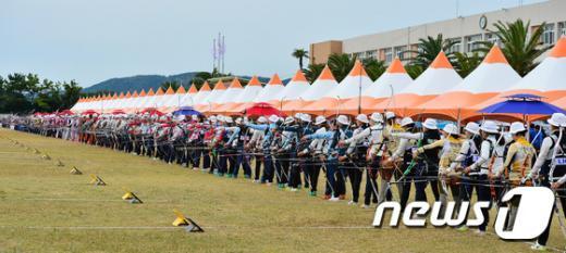 [사진]제95회 전국체전 여자 양궁 70m