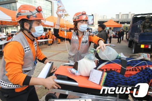[사진]은평소방서, 2014 긴급구조 종합훈련