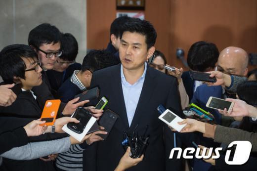 [사진]김태호 '최고위원 사퇴 번복'