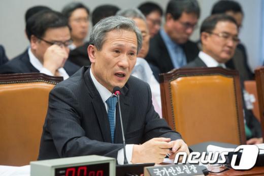 [사진]답변하는 김관진 국가안보실장