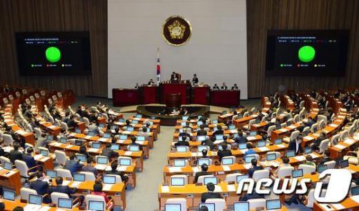 [사진]본회의 통과하는 송파세모녀 3법