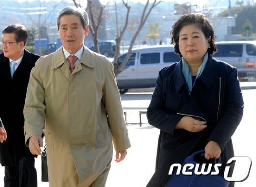 현정은 현대그룹 회장(왼쪽)과 조건식 현대아산 사장 /뉴스1 © News1 서근영 기자