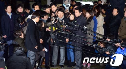 [사진]박지만 EG 회장, 참고인 신분 검찰 출석
