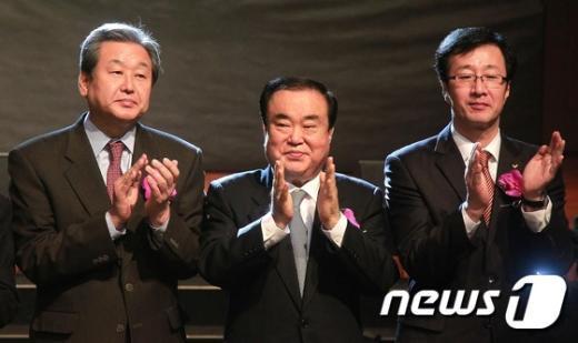 [사진]한자리에 모인 여야 대표들