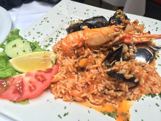 ↑ 트로기르에서 먹은 해산물 요리