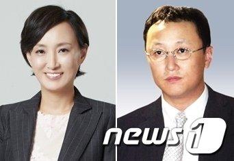 차영 전 민주통합당 대변인과  조희준 전 국민일보 회장. 2013.8.1/뉴스1 © News1
