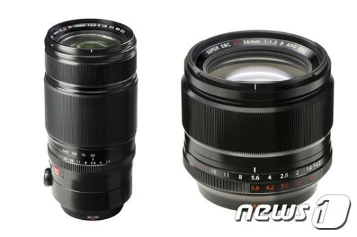 'XF50-140mm(왼쪽)'과 'XF56mm'© News1