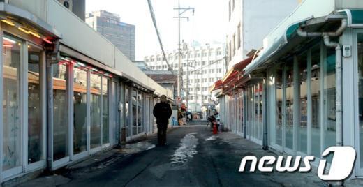 서울 동대문구 전농동에 밀집한 성매매 집결지의 모습. © News1