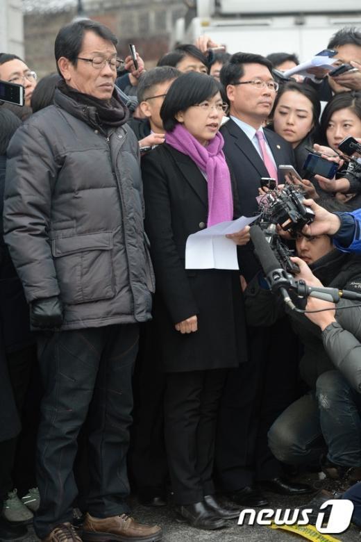 [사진]심경 밝히는 이정희 대표