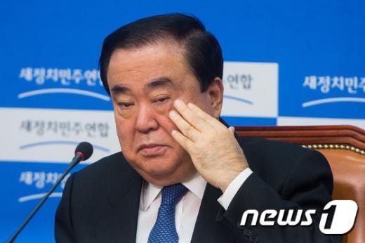 [사진]문희상 '임시국회 정상화 언제쯤...'