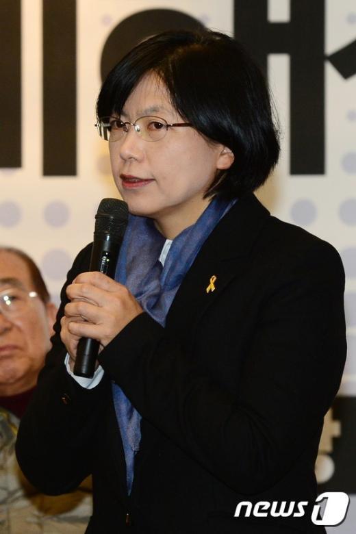 [사진]발언하는 이정희 전 대표