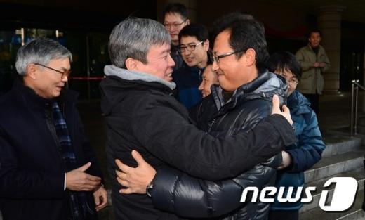 [사진]사상 최장기 철도파업 '김명환 위원장 무죄'