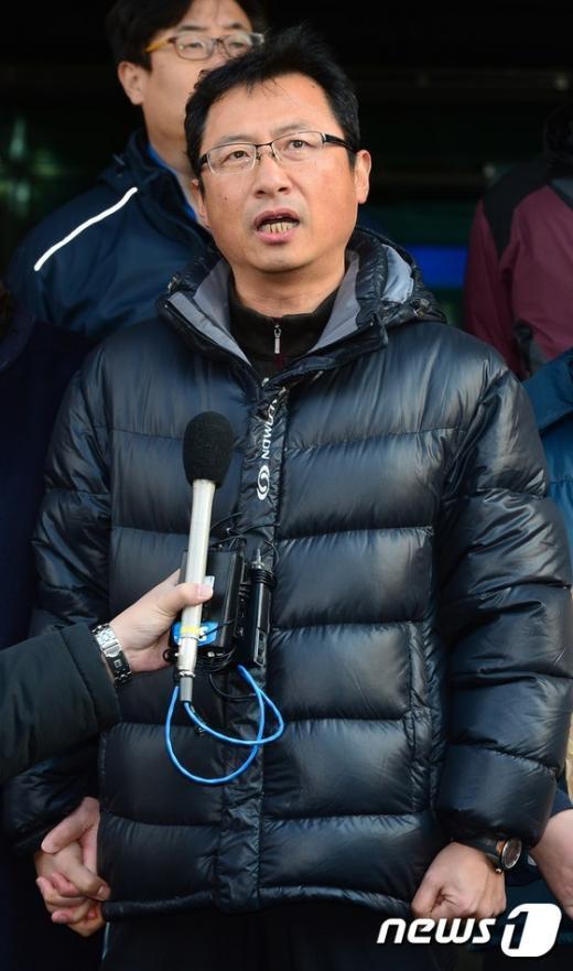 [사진]김명환 전 철도노조 위원장 무죄