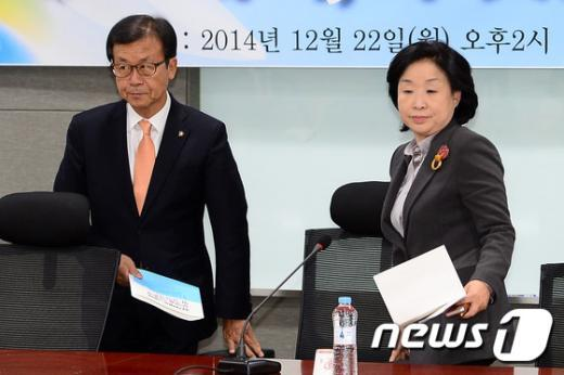 [사진]원혜영-심상정, 선거제도 개혁 토론회 참석