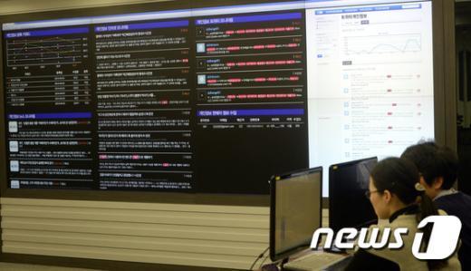 [사진]'한수원 문서 유출 사건' 관련 트윗 검색하는 합수단