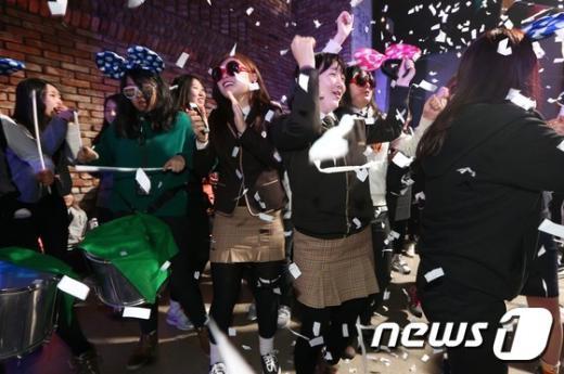 [사진]고3 수험생들의 신나는 댄스