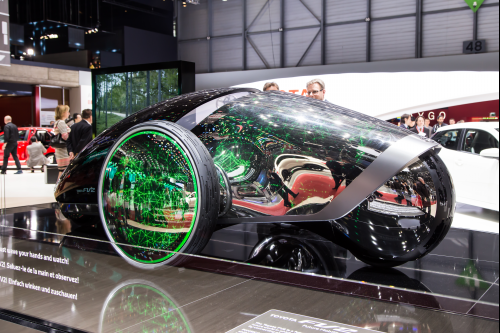 2014년 스위스에서 열린 세계 모터쇼에 전시된 도요타의 미래차 FV2