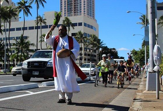 하와이 '자전거타기 천국'의 대명사로 꼽히는 전용도로