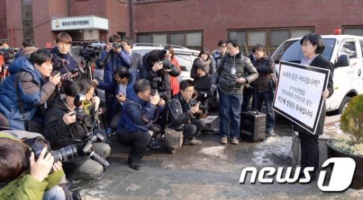 """[사진]이정희 전 대표""""박 대통령 정치 보복은 나 하나로 끝내야"""""""