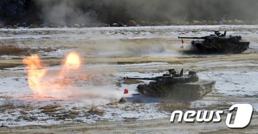 [사진]사격하는 K-1 전차