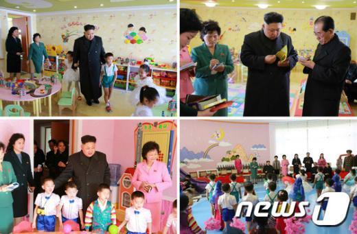 [사진]北 김정은, 새해 첫날 고아원 방문
