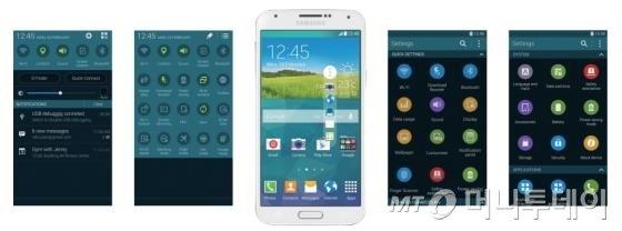 삼성 UX는 새롭지만 익숙한 경험을 중시한다. 써클 아이콘이 실행된 삼성 스마트폰<br>