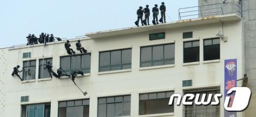 [사진]서울지방경찰청·수도방위사령부 합동훈련