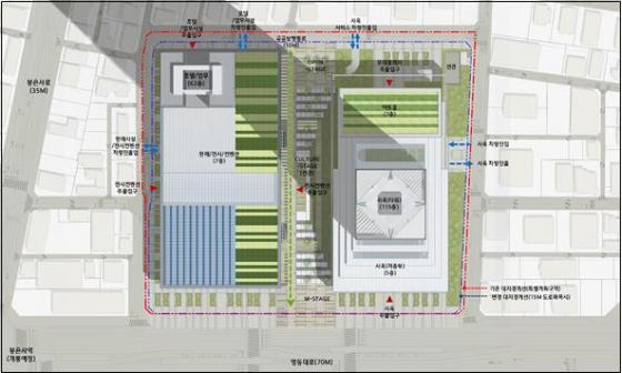 현대차그룹이 서울시에 제출한 한전부지 개발 계획 평면도(안)/자료제공=서울시