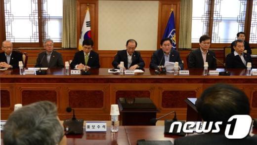 [사진]靑·내각, 정책조정 강화회의