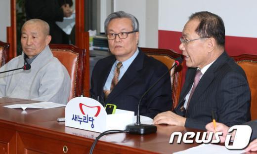 인명진 목사.(가운데) / 뉴스1 © News1