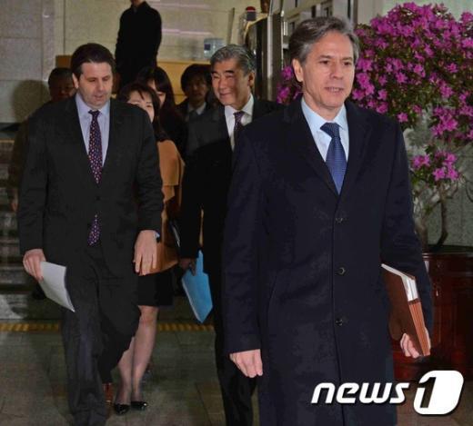 [사진]블링큰 부장관, 우리 정부와 북한 문제 논의