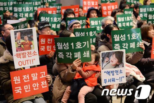 [사진]월성 1호기 수명연장 반대 국민선언