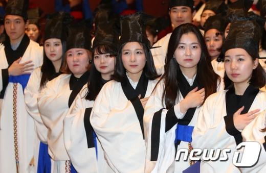 [사진]경건한 졸업식