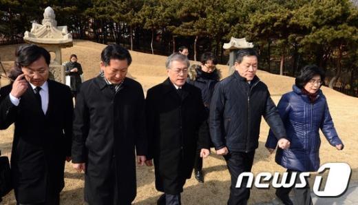 [사진]백범 김구선생 묘역 찾은 새정치 신임 지도부