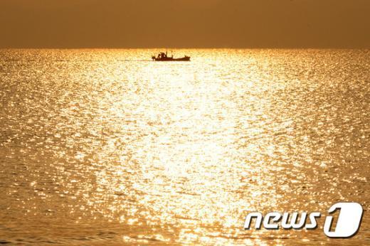 [사진]미세먼지 뚫은 금빛바다