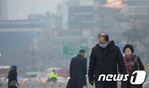 [사진]'뿌연 도심'