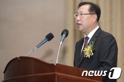 [사진]취임사하는 박성재 신임 중앙지검장