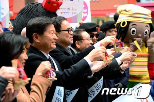 [사진]춘절 계기 중국관광객 환대행사
