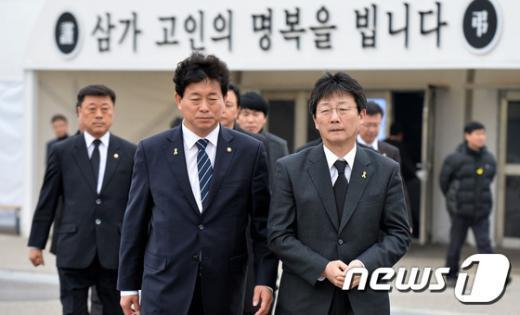[사진]세월호 희생자 조문 마친 유승민 대표