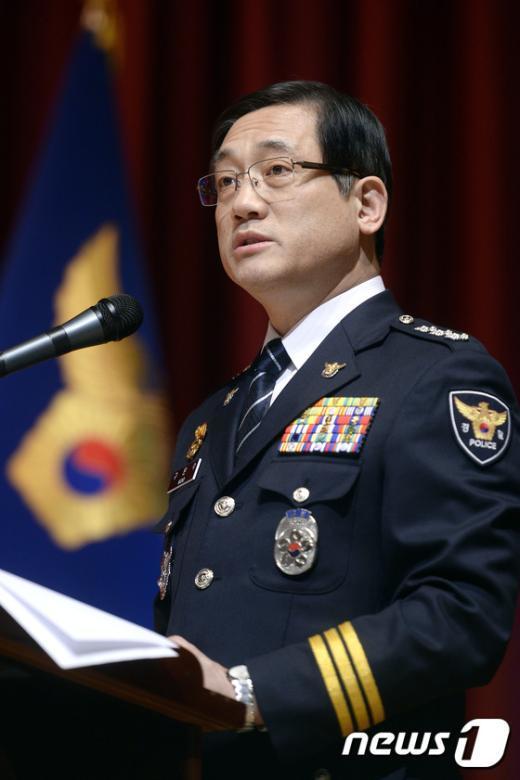 [사진]인사말하는 구은수 서울경찰청장