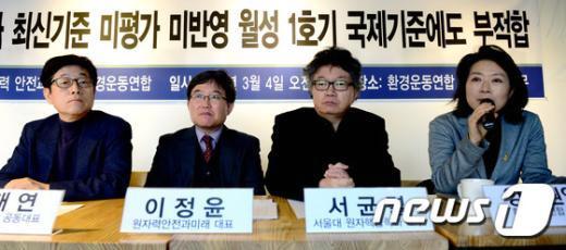 [사진]'월성 1호기 국제기준에도 부적합'