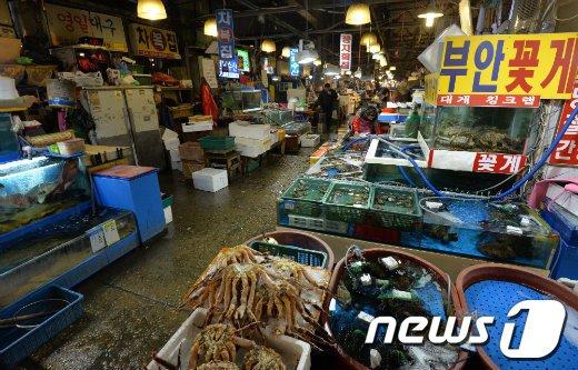 노량진 수산시장./뉴스1 © News1