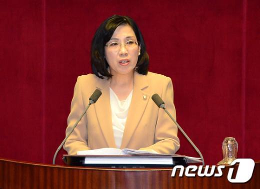 김현숙 새누리당 의원./뉴스1 © News1 박세연 기자