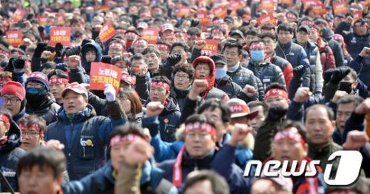 [사진]노동시장 구조개악 저지에 거리로 나온 노동자들