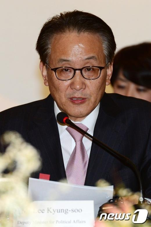 [사진]이경수 외교차관보, 韓中日 고위급회의 인사말