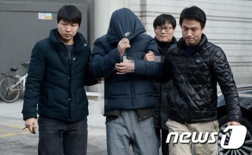 도곡동 80대 여성을 살해한 혐의를 받고 있는 정모씨. © News1 송은석 기자