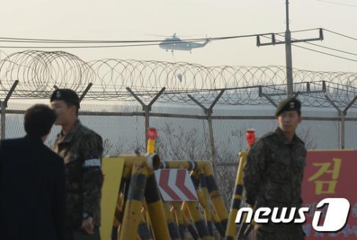 [사진]파주 DMZ 화재, 북한서부터 시작돼 확산