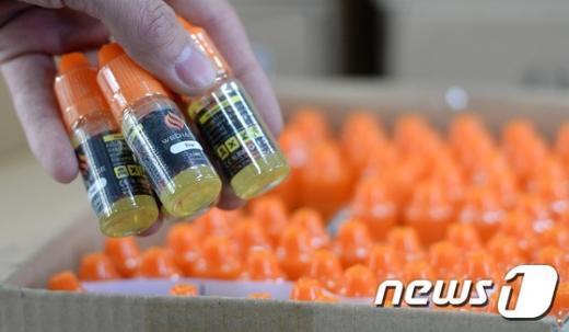 [사진]밀수된 전자담배용 니코틴액상
